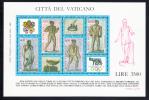 Vatican MNH Scott #792 Souvenir Sheet Of 4 Mosaic From Baths Of Caracalia - Olymphilex ´87 - Vatican
