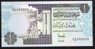 LIBYA   P58c   1/2  DINAR   1991    UNC. - Libia
