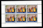 Vatican MNH Scott #872a Booklet Pane Of 6 150l Jacob - Paintings Of The Sistine Chapel - Neufs