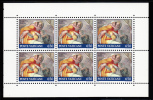 Vatican MNH Scott #877a Booklet Pane Of 6 650l Asa - Paintings Of The Sistine Chapel - Neufs