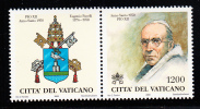 Vatican MNH Scott #1147 1200l Pope Pius XII With Tab Showing Papal Arms - Neufs