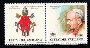 Vatican MNH Scott #1148 1500l Pope Paul VI With Tab Showing Papal Arms - Neufs