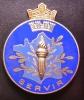 Insigne émaillé, En Relief  :  POLICE  MUNICIPALE - Polizia