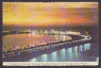 United States PPC FL - A Tropical Sunset Over The Causeway Connecting Clearwater And Clearwater Beach, Florida 1976 - Clearwater
