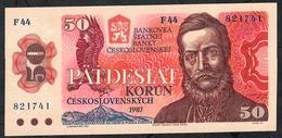 CZECHOSLOVAKIA  P96 50  KORUN 1987 #F44     UNC. - Czechoslovakia