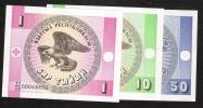 KYRGYSTAN  P1,2,3                          1,10,50  TYIYN   1993    UNC - Kyrgyzstan