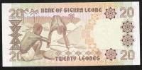 SIERRA LEONE  P16  20   LEONES  DATE 27.4.1988 PREFIX B/1  UNC. - Sierra Leone
