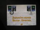�missions commune. BELGIQUE-CROATIE (HRVATSKA) 2002.  DENTELLE. 4 timbres et 2 cachets impeccables (Courtrai et Zagreb).