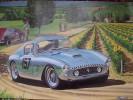 Ferrari Poster Art Print By Tim Layzell  -  Willy Mairesse Winning 1960 Tour De France In Ferrari 250GT - Affiches
