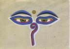 NEPAL - EYES OF SHWOYAMBHUNATH ON HAND MADE PAPER - Nepal