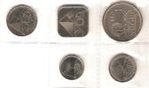 ARUBA SET 5 PCS 5 CENTS 1 FLORIN 2006 UNC - Monnaies