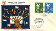 1958     Europa CEPT  FDC Non Adressé - FDC