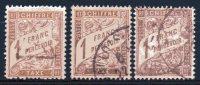 France  Frankreich Y&T Taxe 25° (zweite Wahl), 40°, 40A° - 1859-1955 Gebraucht