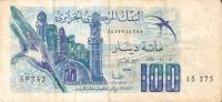 BILLETE DE ARGELIA DE 100 DINARS (BANKNOTE-BANK NOTE) - Argelia