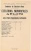 03 - Creuzier-le-Vieux (Allier) - Fiche Politique Format CPA - Elections Municipales De 1945 - Liste Antifasciste (scan) - Historical Documents