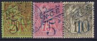 Nouvelle Calédonie : Dallay N° 30 32 34 Oblitérés TB (cote 78€) - Unclassified