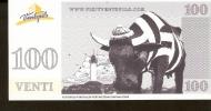 Latvia Ventspils - 100 VENTI - UNC - Cow Parade Lighthouse - Latvia