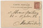 FRANCE SEMEUSE 1904 LIGNE MARITIME FRANCAISE: BUENOS AIRES A BORDEAUX PAQUEBOT N°LK 3 - CPA De SENEGAL A MONTEVIDEO - Posta Marittima