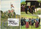 FAEROE IS.  1982 Kvivik Village On Maximum Card.  Michel 74 - Faroe Islands