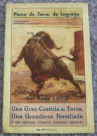 Plaza De Toros De Logrono San Mateo 1953/1 - Books, Magazines, Comics