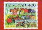FAEROE IS.  1994 Winter Customs On  Maximum Card.  Michel 270-71 - Faroe Islands