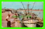 PROGRESO, YUCATAN, MEXICO - SHIPS (JUSY) IN THE DIKE - TRAVEL IN 1978 - - Mexico