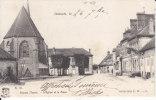 89. Yonne : Domats . L ' église Et La Place . - Autres Communes