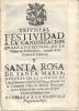 TRIUNFAL FESTIVIDAD A LA CANONIZACION DE SAN LUIS BELTRAN DE LA ORDEN DE PREDICADORES, NATURAL DE LA CIUDAD DE VALENCIA - Religione & Scienze Occulte