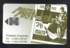 RARE USED  PHONECARD FROM MALTA  LM5 - VERY FINE CONDITION - 1997 - - Malta