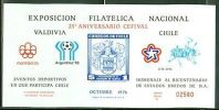 Chile Minisheets MNH: Souvenir Card National Philatelic EXPO VALDIVIA LOOK $ - Cile