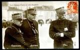 CPA.  Guerre 1914-1918. TROIS GRANDS CHEFS.  Général DE CASTELNAU,  Général  JOFFRE,. Général PAU. - Patriotiques