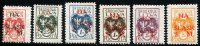 CENTRAL LITHUANIA 1921 MI.23-28 COMPLETE PERF SET, MINT - Lithuania