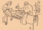 CPA 441 CPM Carte De Voeux Noël 1960 Signée P Ly59 Illustration Malade Se Faisant Opérer Par Médecin, Infirmière Humour - Illustrateurs & Photographes