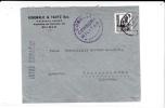 """ESPAGNE - 1937 - ENVELOPPE COMMERCIALE De BILBAO Avec CENSURE De VIZCAYA Pour L´ALLEMAGNE - """"VIVA ESPANA"""" - Marcas De Censura Nacional"""