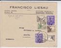 ESPAGNE - 1939 - ENVELOPPE PAR AVION De Madrid Avec CENSURE MILITAIRE Pour L´ALLEMAGNE - - Marcas De Censura Nacional