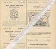 1903 Dépôt De Brevet Cigare Le Super Goblet Schaerbeek Papetierie Duvivier Liège Machine à Coudre Singer - Documents Historiques