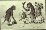 The Morning Walk Of Anthropomorphic Monkeys?   Posted  C1900. - Monkeys