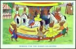 Anthropomorphic Rabbits On A Merry-go-round,  C1960 - Animaux & Faune