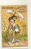 FEMME JAPONAISE   HYATT  FLEURS  LINGE AMERICAIN 1884 - Chromos