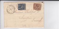 SAGE - 1887 - RARES PERFORES F.A (BANQUE FELIX AUNAC) Sur LETTRE De AGEN (LOT ET GARONNE) Pour FUMEL - France