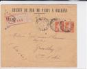 SEMEUSE - 1922 - PERFORE P.O (CHEMIN DE FER PARIS ORLEANS) Sur ENVELOPPE RECOMMANDEE - France