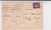 SEMEUSE - 1928 - PERFORE P.O (CHEMINS DE FER PARIS ORLEANS) Sur CARTE POSTALE COMMERCIALE De SALERS (CANTAL) - France
