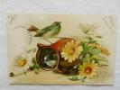 CPA Oiseaux, Marguerites - Birds