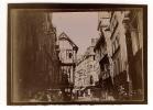 Photographie De La Ville De Rouen En 1907 - Vieille Rue Animée - Scène Vivante Calêche  - Rare Photo Originale - Dpt 27 - Luoghi