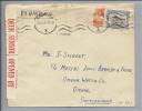 Südafrika 1944-11-11 Zensur Air Mail Nach Bienne CH Omega - Afrique Du Sud (1961-...)
