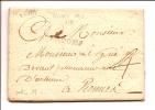 """MARQUE POSTALE """"BROONS"""" SUR UN PLI DE 1791 LENAIN N°1 TAXE 4 RARE INDICE 13 - Marcophilie (Lettres)"""