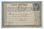 14-Villers-sur-Mer- CPA Incunable Non Illustrée Circulée En 1877 Cachet Départ Villers - Villers Sur Mer