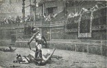 Postal ROMA, Pollice Verso.  Gladiador Romano En La Arena - Antigüedad