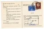 Arbeidslijstkaart  Met K.B. Kappele - Biezelinge (zl) Timmerfabriek - Postal Stationery