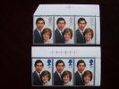 GB 1981 ROYAL WEDDING  ISSUE Of 2 Stamps MNH In Corner Block Of 3 MARGINAL. - 1952-.... (Elizabeth II)